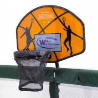 GeeTramp Rectangle Trampoline Basketball Set