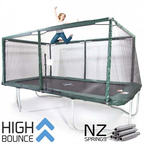 GeeTramp Force 10x17ft Rectangle Trampoline - High Bounce /w NZ Springs