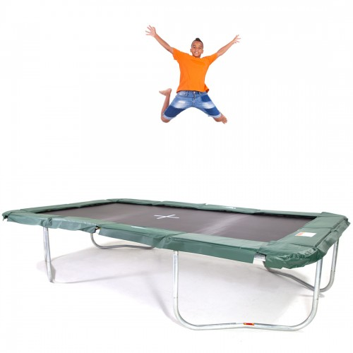 GeeTramp Force 10x17ft Rectangle Trampoline - In Ground - High Bounce /w NZ Springs