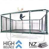 GeeTramp Force 14x16ft Rectangle Trampoline - High Bounce /w NZ Springs