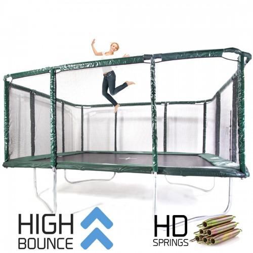 GeeTramp Force 14x16ft Rectangle Trampoline - High Bounce