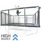 GeeTramp Force 14x16ft Rectangle Trampoline - High Bounce