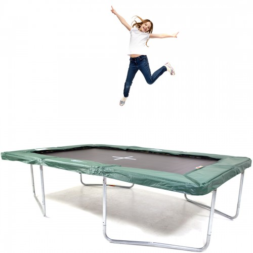 GeeTramp Force 8x12ft Rectangle Trampoline - In Ground - High Bounce