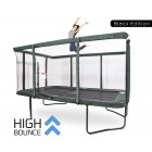 GeeTramp Force 9x14ft Rectangle Trampoline - Black Edition - High Bounce